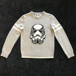 Gap Boys Star Wars Sweater L 10 Storm Trooper Gray